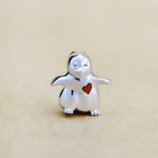 Moon Gift【Wonderland】Baby Penguin (Red Heart) 925 Silver Necklace