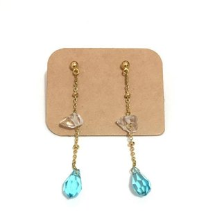 Simple Dangling Earrings With Crystal