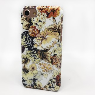 Floral pattern burnt brown classic white 12 3D Full Wrap Phone Case, available for  iPhone 7, iPhone 7 Plus, iPhone 6s, iPhone 6s Plus, iPhone 5/5s, iPhone 5c, iPhone 4/4s, Samsung Galaxy S7, S7 Edge, S6 Edge Plus, S6, S6 Edge, S5 S4 S3  Samsung Galaxy Not