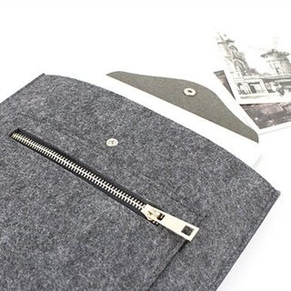 Original handmade dark gray blankets Apple computer protective sleeve blankets sets of laptop bags Macbook Air 13.3 computer bag MacBook Air 13 inch (can be tailored) - ZMY047DG13A