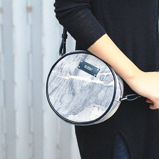 HARD RAYS Grey Stone Round Crossbody (removable strap)