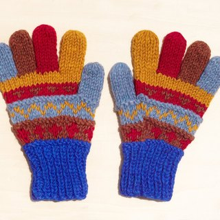 Christmas presents a limited edition of hand-woven pure wool knitted gloves / wool gloves / warm gloves - playful striped tie