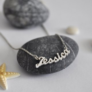 Personalized Tiny Name Necklace,Sterling Silver