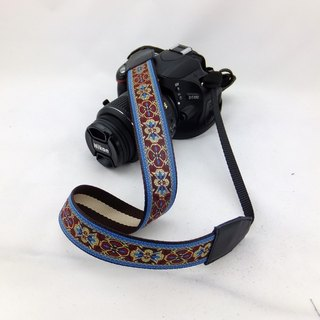 Camera strap can print personalized custom leather stitching national wind embroidery pattern 038