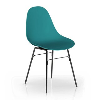 TOOU Side Chair with black Legs (marine blue)