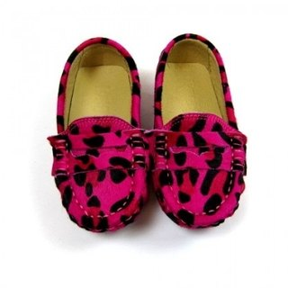 Fort Tony Wang leopard leather handmade shoes [beans bottom / pink]
