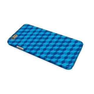 Geometric Blue Pattern 3D Full Wrap Phone Case, available for  iPhone 7, iPhone 7 Plus, iPhone 6s, iPhone 6s Plus, iPhone 5/5s, iPhone 5c, iPhone 4/4s, Samsung Galaxy S7, S7 Edge, S6 Edge Plus, S6, S6 Edge, S5 S4 S3  Samsung Galaxy Note 5, Note 4, Note 3,
