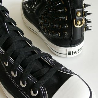 """CANCER popular laboratory"" SUPER STAR-emperor black (CONVERSE canvas shoes modified / with shoes - no zipper)"