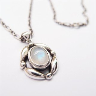 Classical Series 3 --- Moonstone Silver Necklace