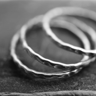 Stacking Sterling Silver Rings / Set of 3 / Forging 925 Sterling Silver