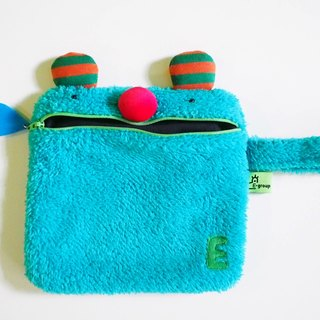 E * group saliva handbag (red nose bear blue hair)