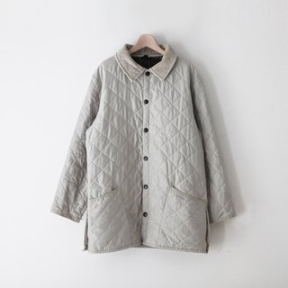A ROOM MODEL - VINTAGE, CJ-2999 米 gray Barbour Quilted Jacket