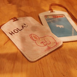 Multi-function card holder key ring -Hola! Shy rabbit