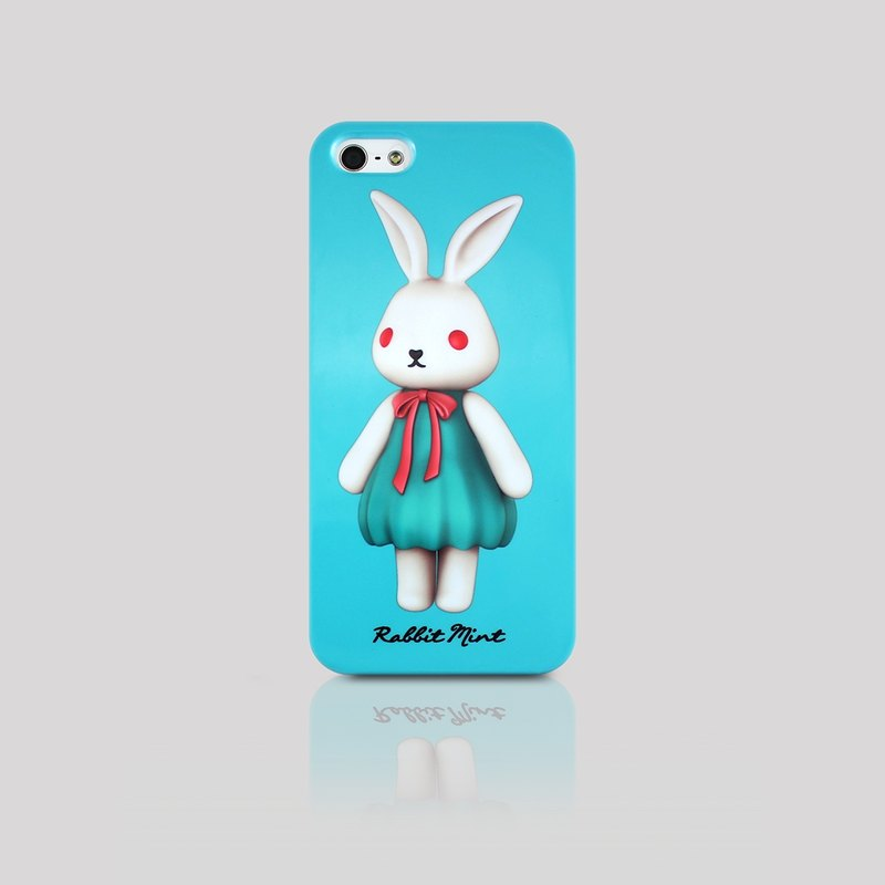 (Rabbit Mint) Mint Rabbit Phone Case - Bu Mali Merry Boo - iPhone 5 / 5S (M0002)