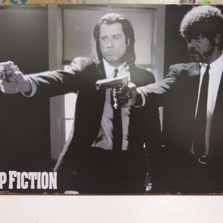 Tinplate listed series l l fell in love with the movie Pulp Fiction Pulp Fiction l