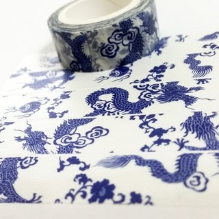 Masking Tape Porcelain Dragon