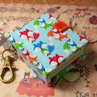 [funny little fox] mini small phase key ring 5cmX4.3cm - custom small things