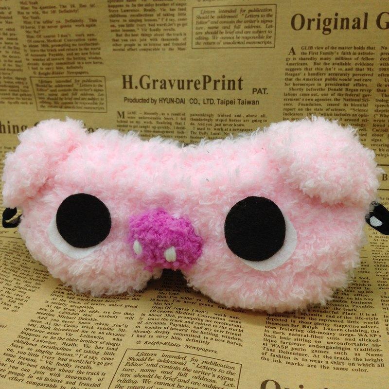 棉花糖動物眼罩-粉紅小豬