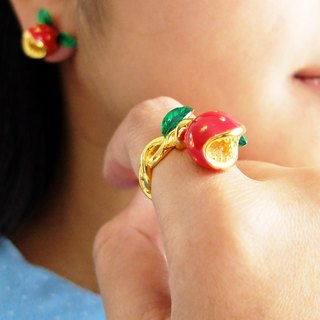 Glorikami RedHunting Flower Ring