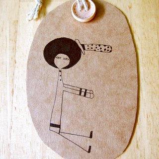 Bigheadedness girl alphabetical bookmark -E