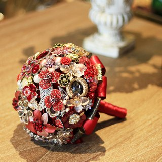 Bouquet jewelry [full] jewelry line red / retro