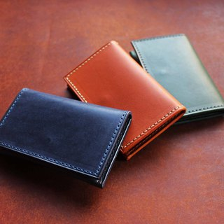 [VULCAN business card holder card holder] Italy's thin wax planting yak leather multi-color can be made without buckle