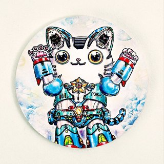 Good meow kawaii ka wa い い hand-painted ceramic water coaster ~ ♥ meow Diamond