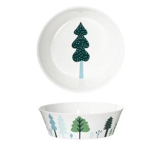 Forest Bone China Dinner Bowl - 中 | Donna Wilson