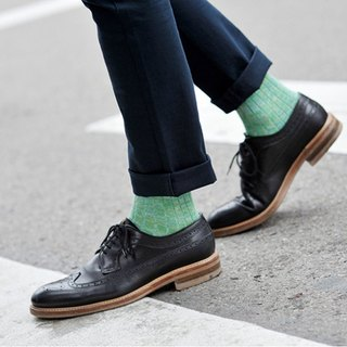 Organic Cotton Socks - Nordic Collection Helsinki Green Finnish Green Midi Socks (Thick Weave)