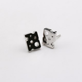 Cheese 925 Sterling Silver Earrings