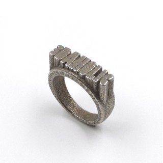 Customized jewelry rings - three-dimensional printing x Pop out Ring x Personalized