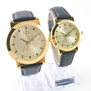 [UNI VINTAGE] Paper Crane - Gold (Couples watch)