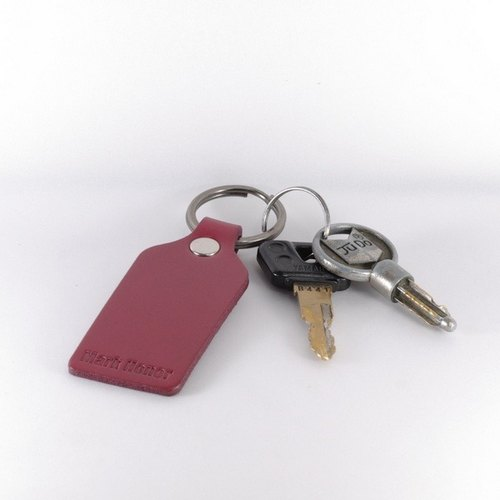Key ring leather leather leather version of wine red wine
