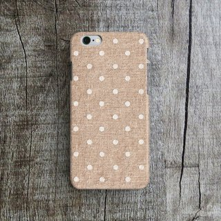Polka Dots, Linen - Designer iPhone Case. Pattern iPhone Case. One Little Forest