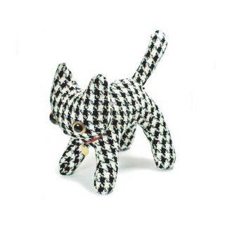 Winter limited edition - Houndstooth doll size cat doll - Japanese handmade