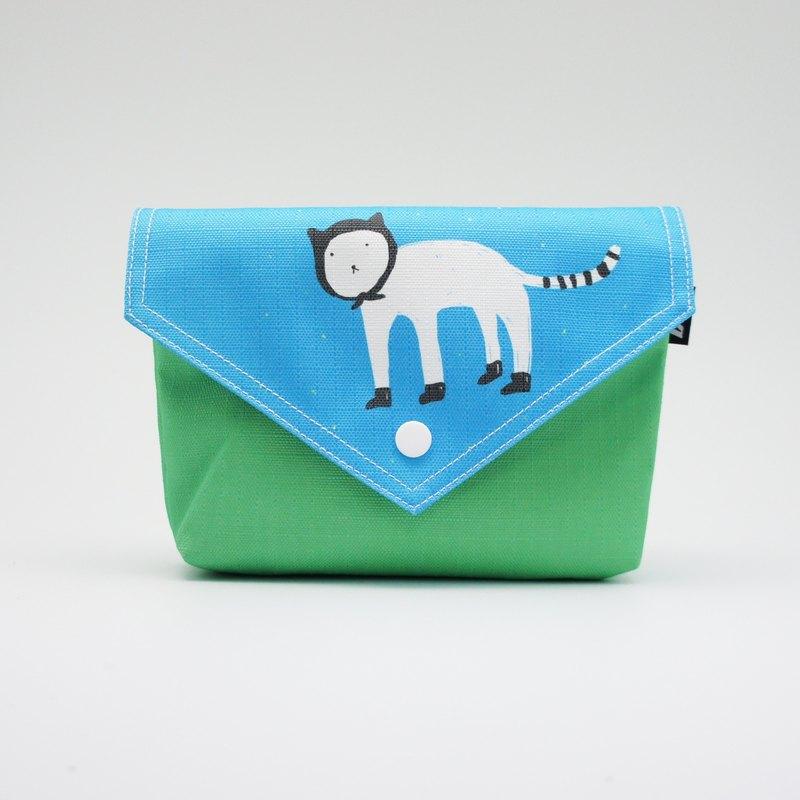 BLR 手工印製 BRAIN CANDY 聯名款 貓 BB BAG 肩背包 手拿包