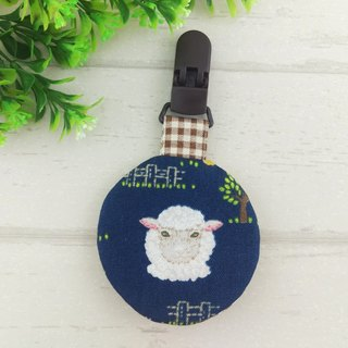 Sheep Farm - 2 colors available. Circular peace symbol bag (can increase 40 embroidered name)