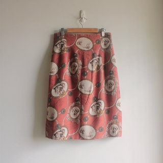 A word totem brown bottom Skirt