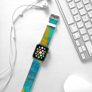 Apple Watch Series 1 , Series 2, Series 3 - Abstract Blue Water Painting Watch Strap Band for Apple Watch / Apple Watch Sport - 38 mm / 42 mm avilable