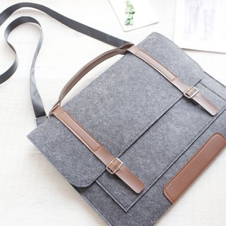 "[Customizable] Original handmade dark gray felt Apple Tablet Case felt sleeve laptop bag Macbook Pro Retina 13-inch computer bag Macbook 13.3 ""Pro Retina (can be tailored) - ZMY049DG13R"