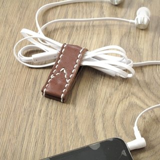 Close (folder) the iPhone headphone cable case of evolution x bookmark whole hand sewing (Brown)