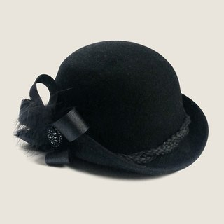 Korakuen Korakuen*Do not forget me*black felt hat