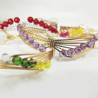 [Mrs.U silk Tibetan honey] SWAROVSKI butterfly bracelet