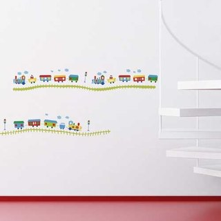 Smart Life creative seamless wall stickers happy train