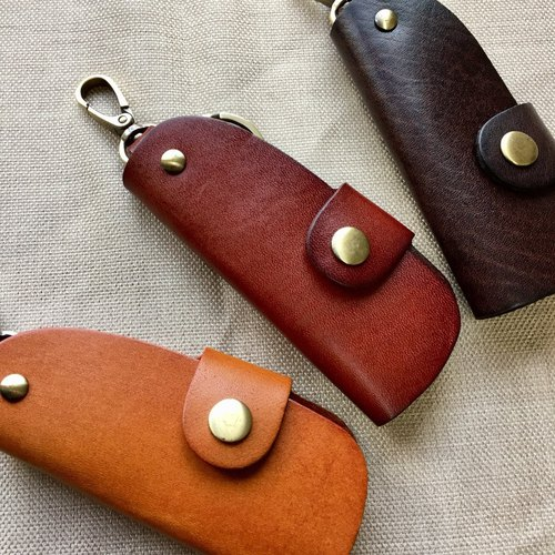 Simple manual leather car key bag / car key / key free gift gift