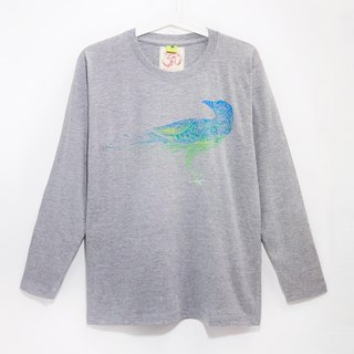 Valentine's Day gift handle long-sleeved shirt male version / T-shirt - the color crow breeze (cannabis gray S)