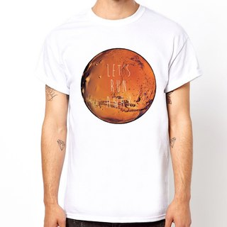 LET'S RUN AWAY-MARS short-sleeved T-shirt - White Martian moon forest natural design own brand fashion circle triangle