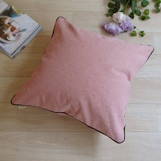 [Cover only] canvas plain cushion cover braid SQ