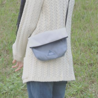 MaryWil Colorful Shoulder Bag-Grey/Grey Blue