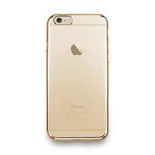 iPhone 6s -Sheen Series- metal light through a sense of protective soft cover - shining gold
